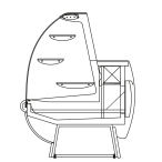 Bočný rez - KAROLINA S - Statické chladenie obslužné prevedenie