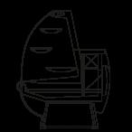 Side cut - KAROLINA S - Static cooling serveover