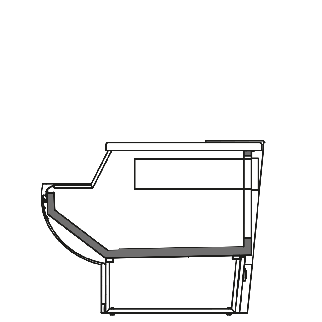 разрез  - NINA MP - Расчетный стол