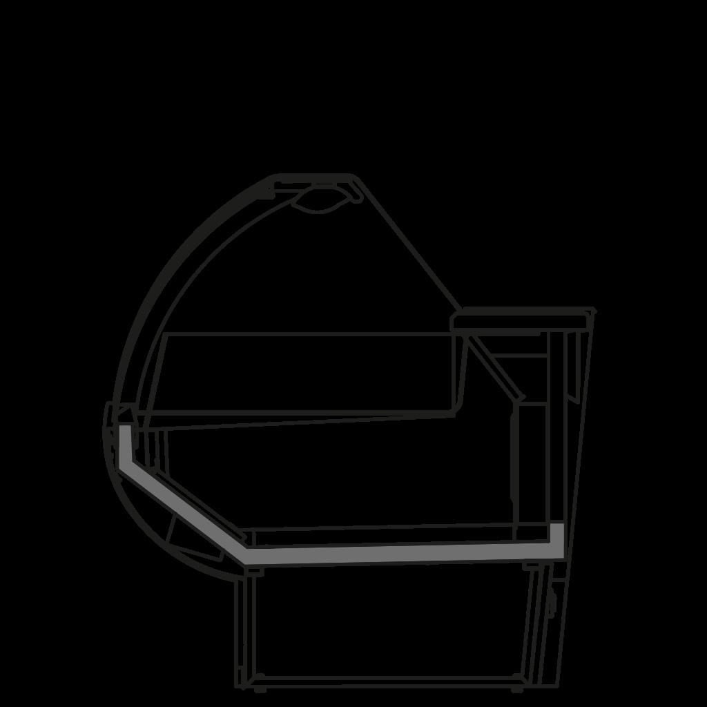 разрез  - NINA NT - Низкотемпературная витрина для замороженной продукции