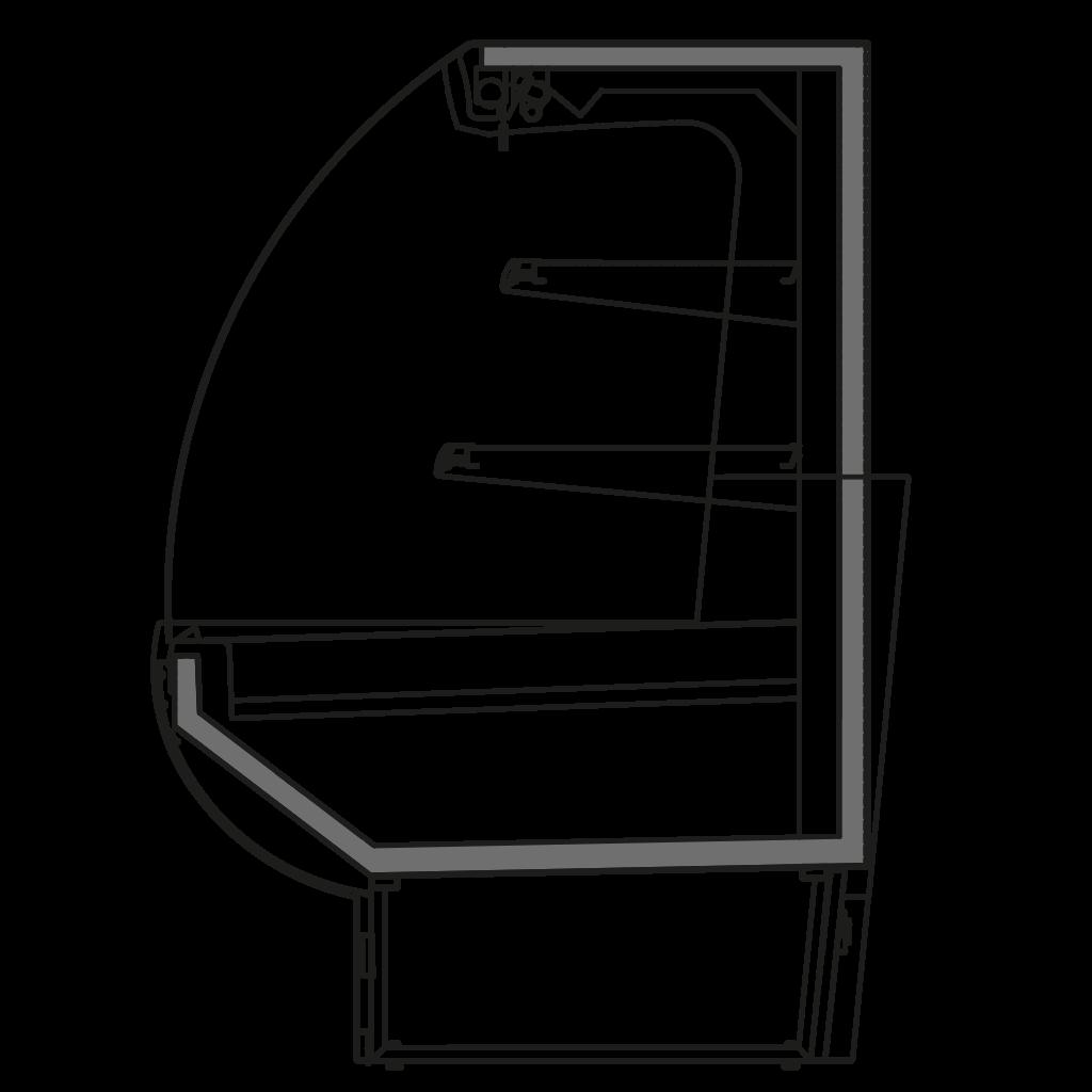 разрез  - NINA SEMI - Полу горка стывуемая в линии с витринами