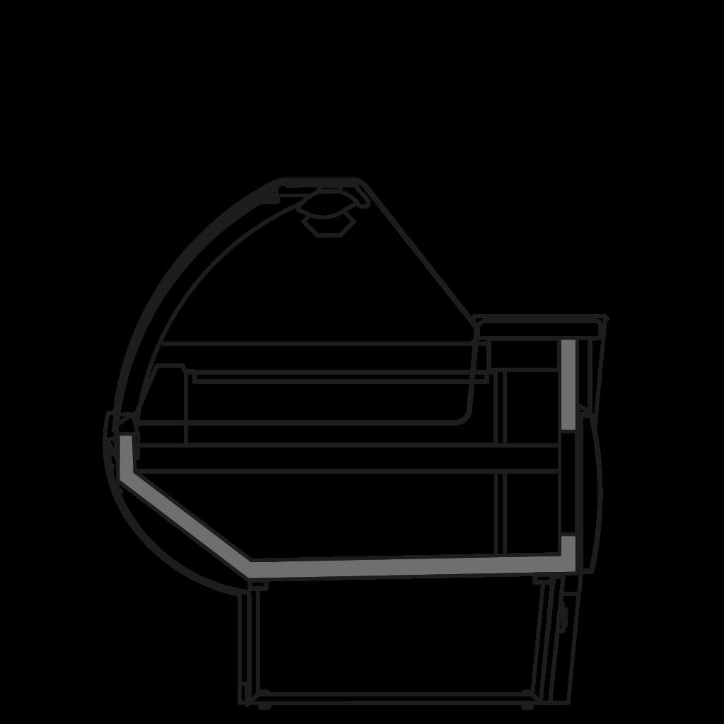 разрез  - NINA TPI - Тепловая витрина с сухим нижним подогревом