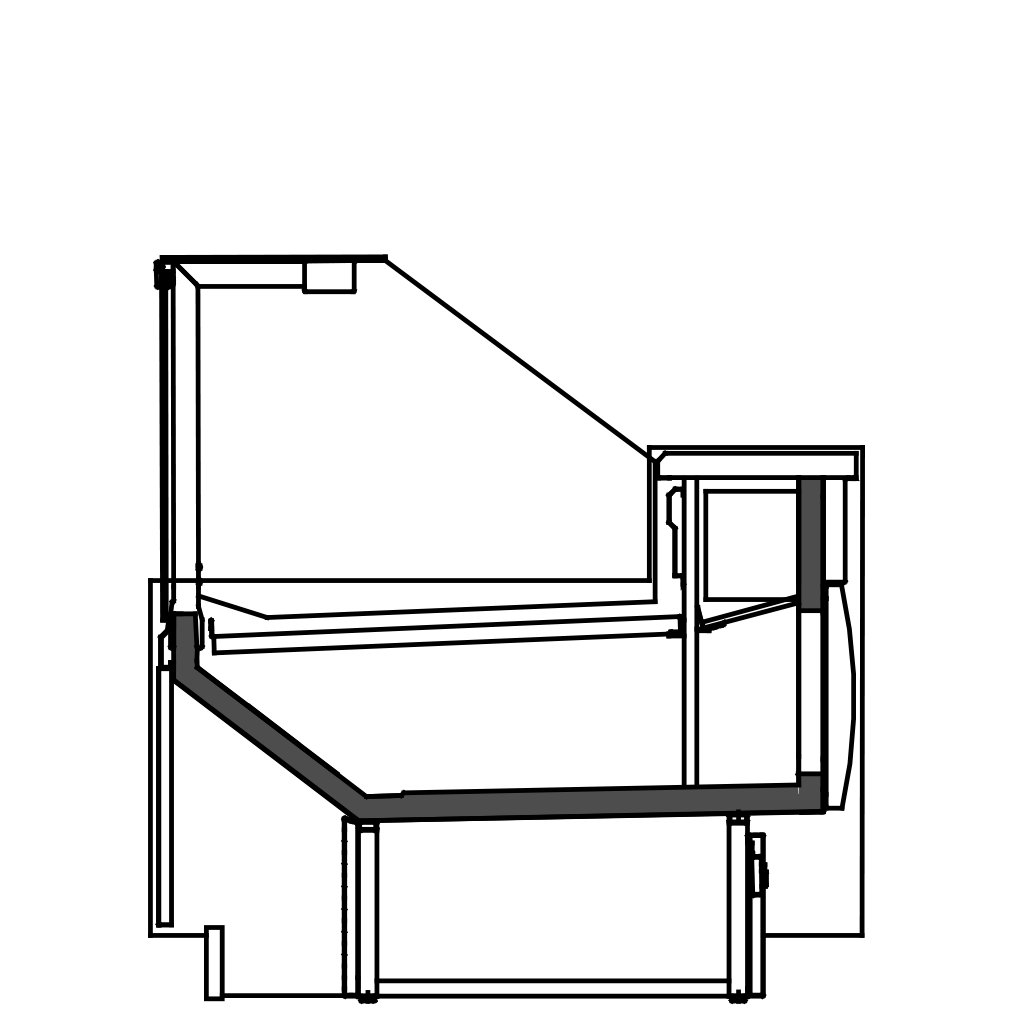 разрез  - KUBUS S - статическое охлаждание