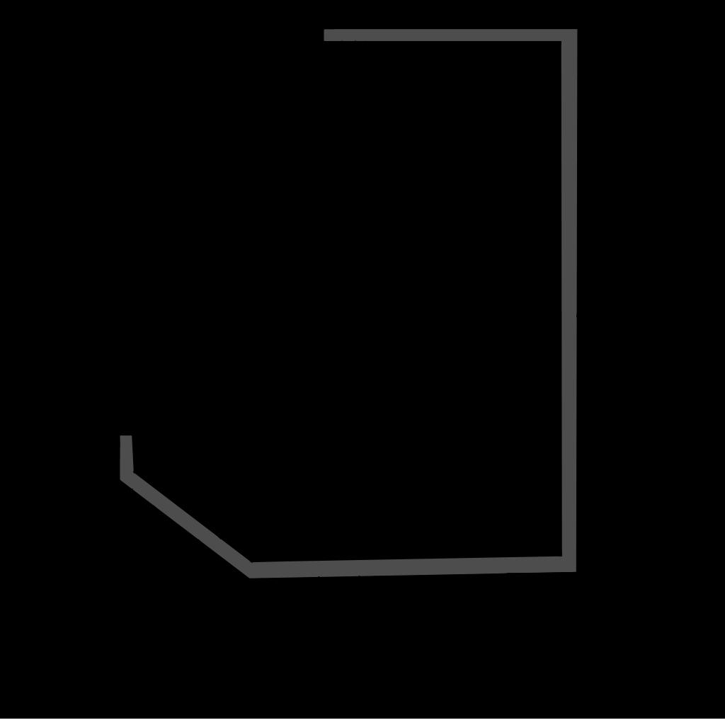разрез  - KUBUS SEMI - Полу горка стывуемая в линии с витринами