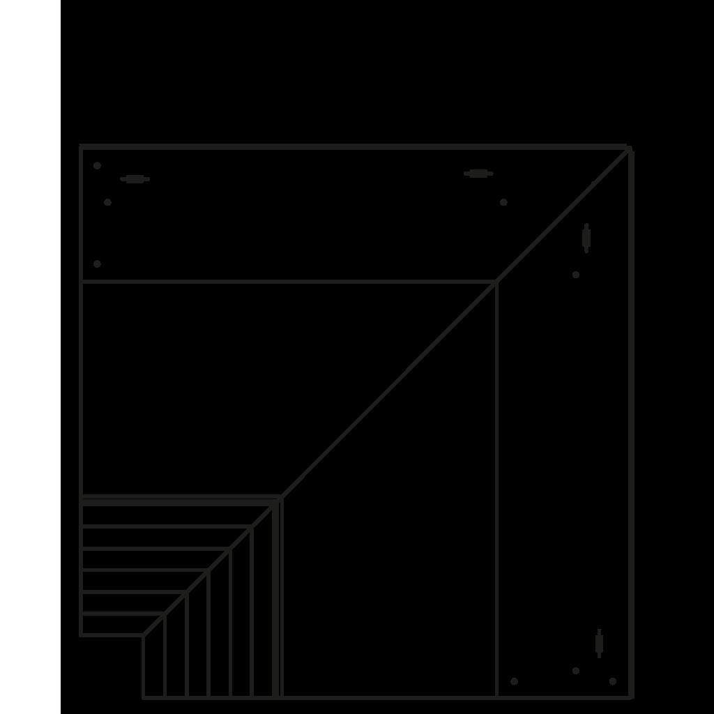 Seitenschnitt - NEWZITA 45°E,45°I,90°E,90°I - Ventilierte Eckkühlung