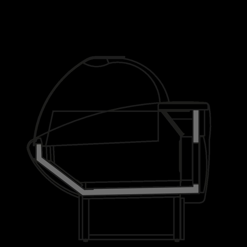 Seitenschnitt - NEWKLARA NT - Theke mit niedrigen Temperatur für Gefrierlebensmitteln
