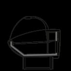 Bočný rez - NEWKLARA S - Statické chladenie samoobslužné prevedenie