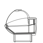 Side cut - NEWKLARA S - Static refrigeration serveover finish