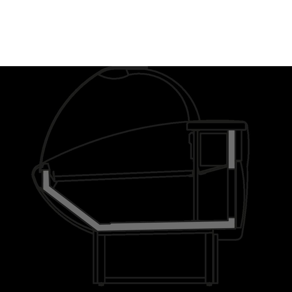 Seitenschnitt - NEWKLARA S - Statische Kühlung Bedienungs-Ausführung