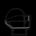 Seitenschnitt - NEWKLARA SFISH - Statische Kühlung für Fischverkauf auf dem Schuppeneis