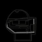 Bočný rez - NEWKLARA TPBM - Teplá vitrína s vodným kúpeľom (bain marie)