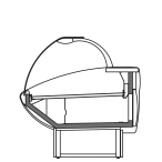 Side cut - NEWKLARA V - Ventillated refrigeration of serveover cabinets