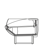 Seitenschnitt - NEWKLARA VSS - Ventilierte Kühlung Selbstbedienungs- Ausführung
