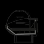 Bočný rez - NEWKLARA VZA - Ventilované chladenie pre zákusky