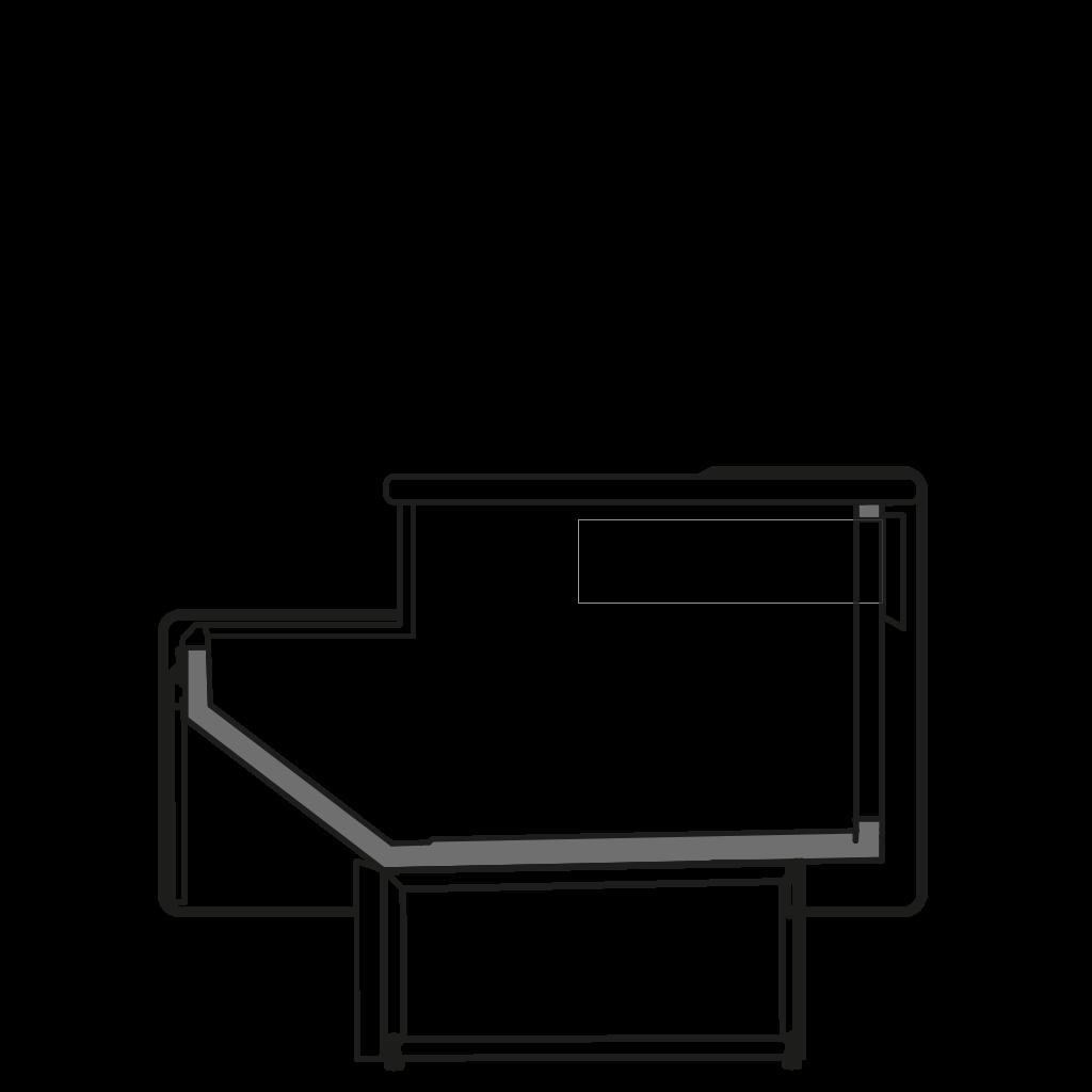 Seitenschnitt - NEWZITA MP - Kassentisch
