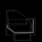 Bočný rez - NEWZITA NT - Nízkoteplotná vitrína na mrazený tovar