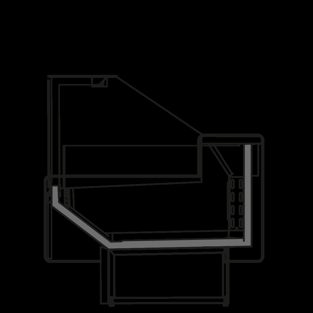 разрез  - NEWZITA NT - низкотемпературная витрина для замороженных полуфабрикатов