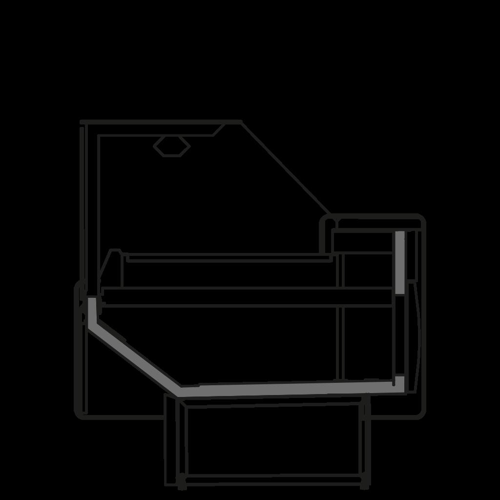 разрез  - NEWZITA TPI - Tепловая витрина с сухим нижним подогревом