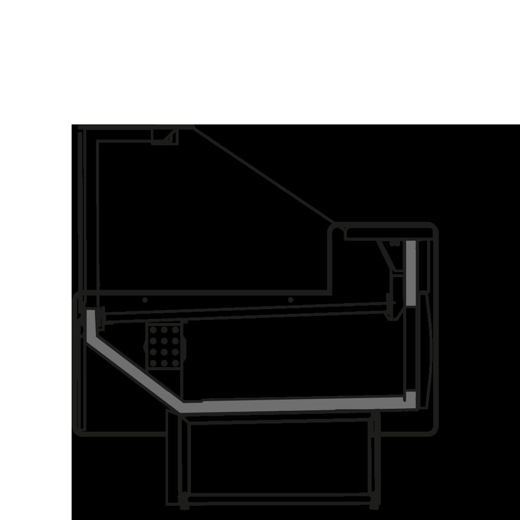 Seitenschnitt - NEWZITA V - Ventilierte Kühlung Bedienungs- Ausführung