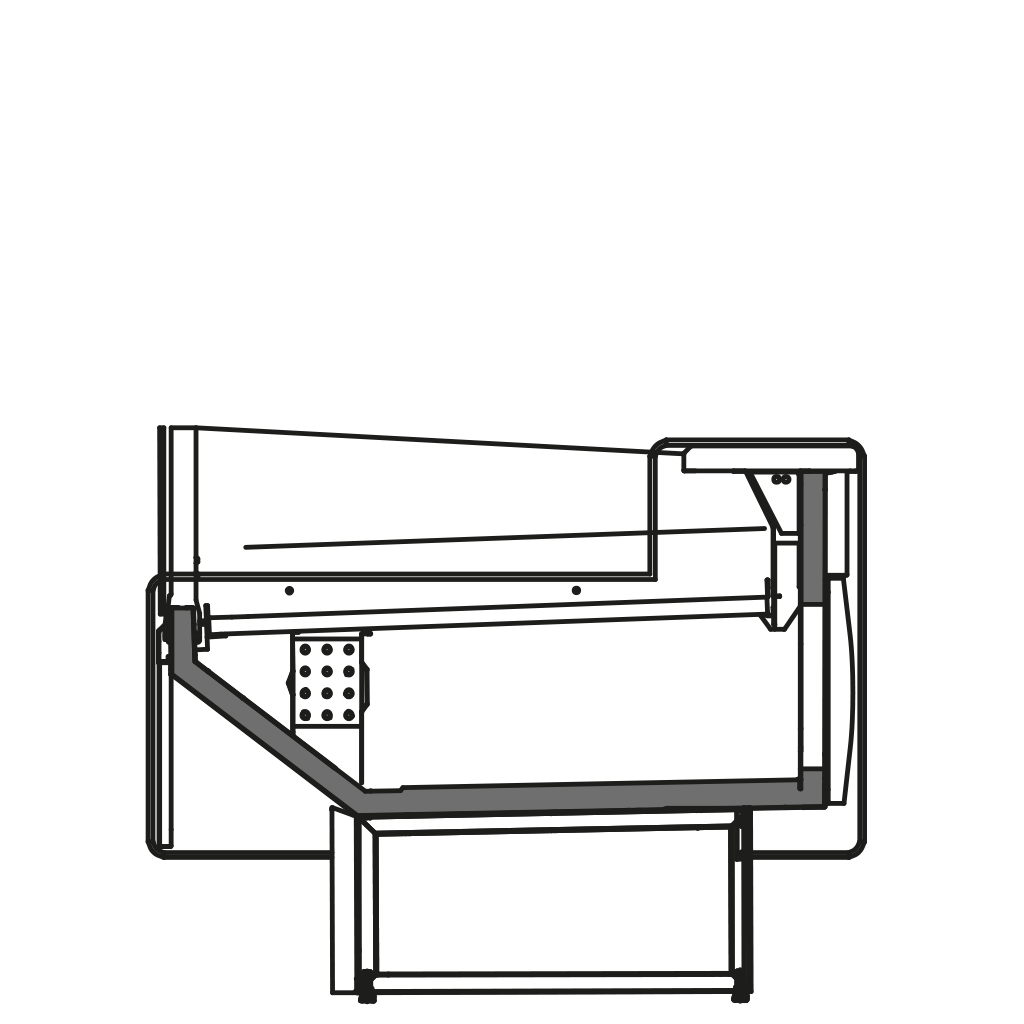 Seitenschnitt - NEWZITA VSS - Ventilierte Kühlung Selbstbedienungs- Ausführung