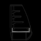Bočný rez - LINDA VSS - Ventilované chladenie samoobslužné prevedenie