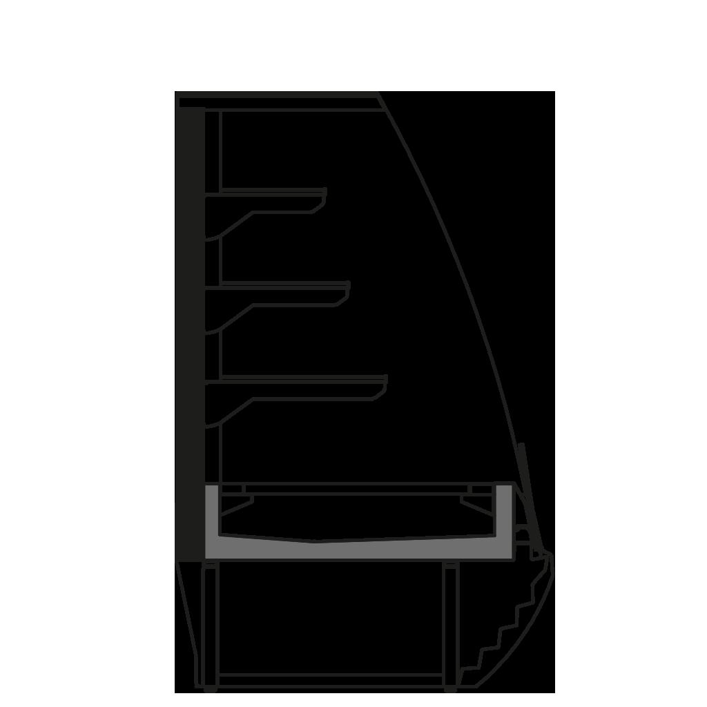 разрез  - LINDA VSSP - Вентилируемое охлаждение с фикс. задней стенкой