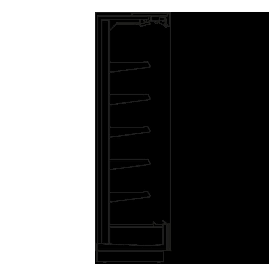 Seitenschnitt - KALIFORNIA Q 300 M2 - Kühlversion, Regal 300