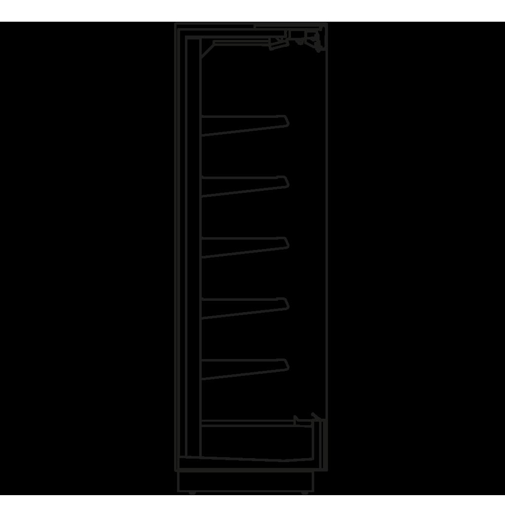Seitenschnitt - KALIFORNIA Q 350 M2 - Kühlversion, Regal 350