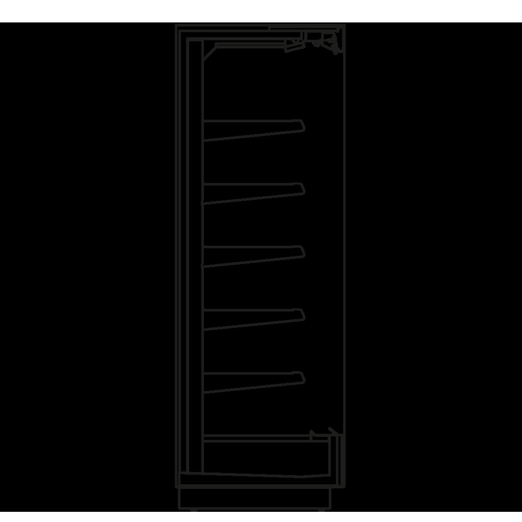 Seitenschnitt - KALIFORNIA Q 400 M2 - Kühlversion, Regal 400