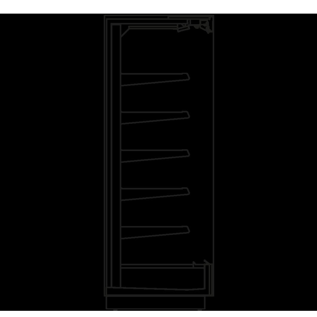 Seitenschnitt - KALIFORNIA Q 450 M2 - Kühlversion, Regal 450