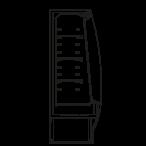 Bočný rez - STELA M2 - Chladiace prevedenie