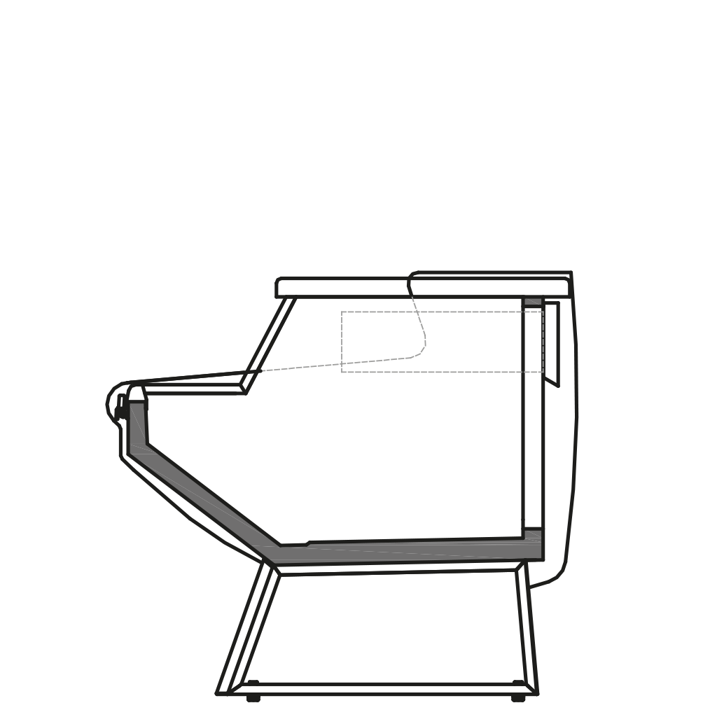 Side cut - NEWKRISTINA MP - Neutral table