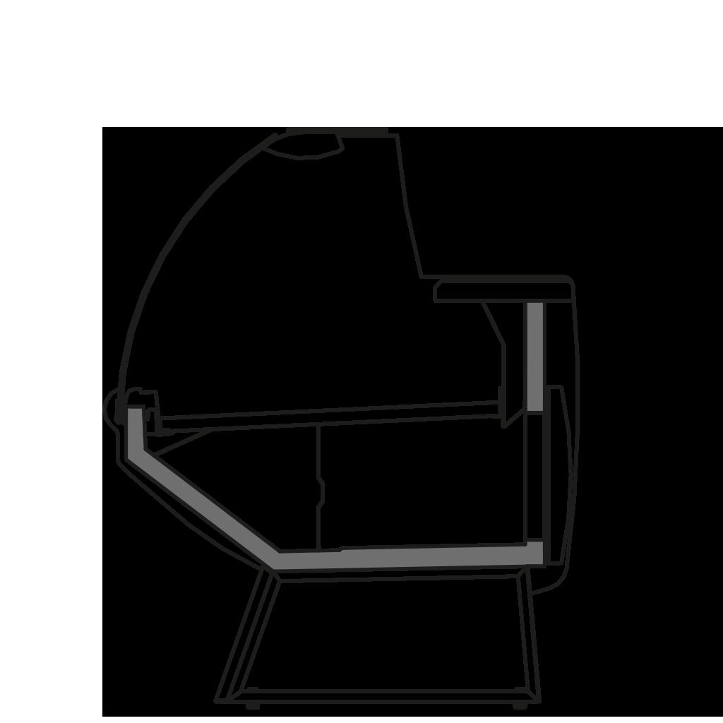 Side cut - NEWKRISTINA V - Ventilated cooling serveover