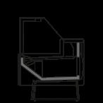 Bočný rez - NEWZITAmini V - Ventilované chladenie obslužných vitrín