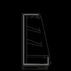Side cut - KALIFORNIA Q1500 H - Cooling version, shelf 400