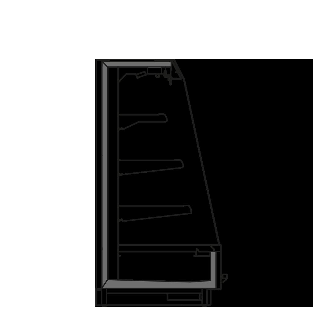 разрез  - KALIFORNIA Q1500 M1 - Oхлаждаемый вариант, полка 400