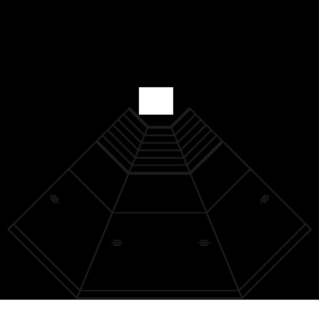 разрез  - NEWKLAUDIA 45°E,45°I,90°E,90°I - угловые модули с вентилируемым охлажданием
