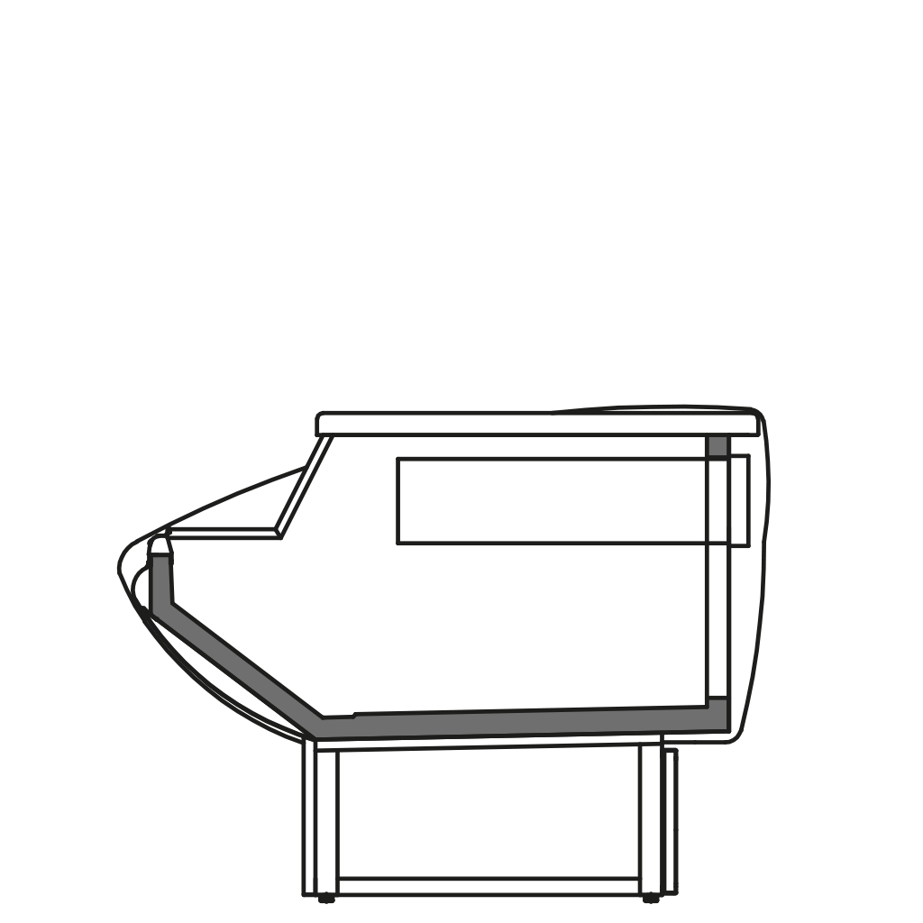 разрез  - NEWKLAUDIA MP - Расчётный стол