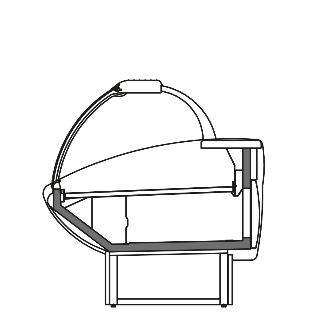 разрез  - NEWKLAUDIA V - Витрина с вентилируемым охлажданием