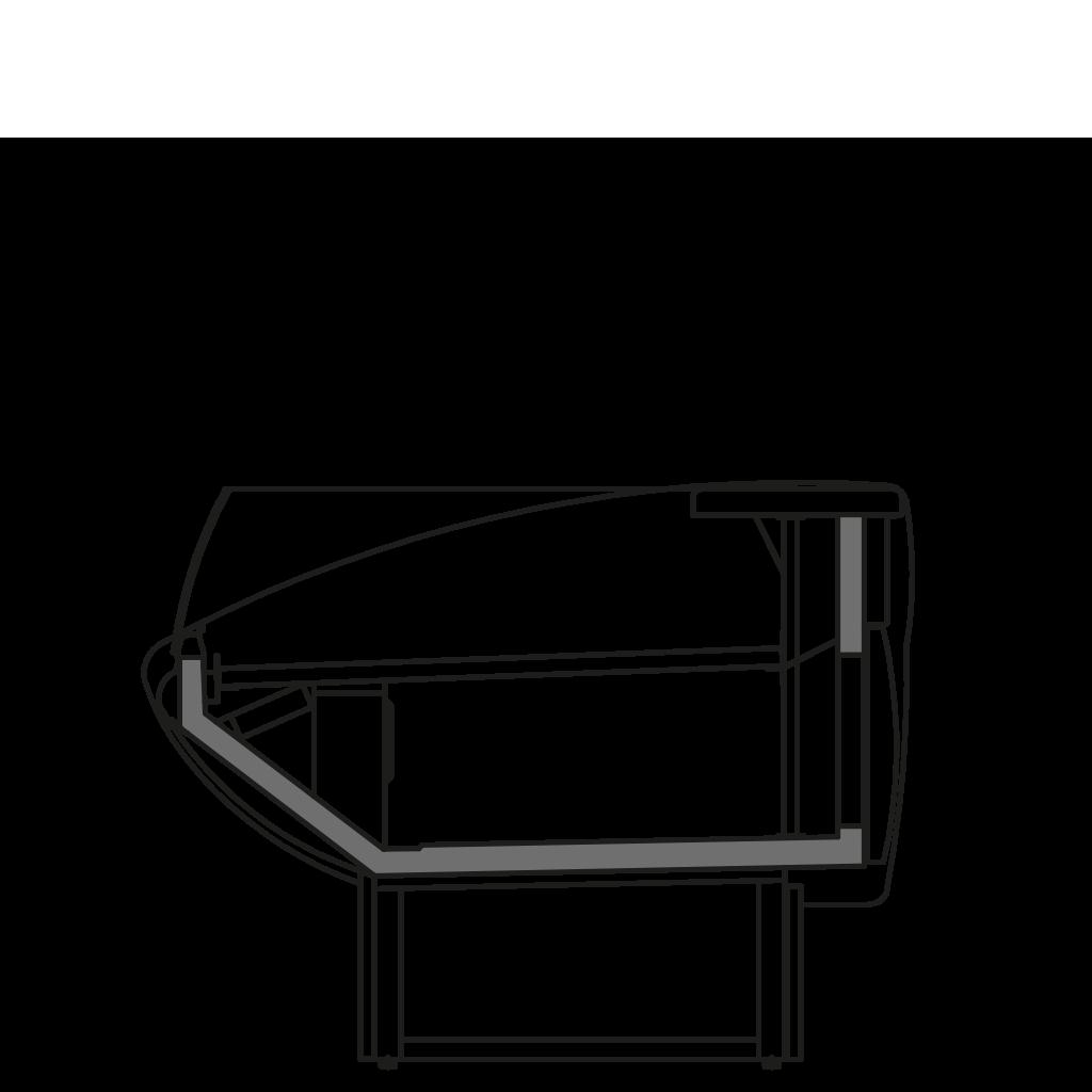 разрез  - NEWKLAUDIA VSS - Витрина с вентилируемым охлаждением для самообслуживания