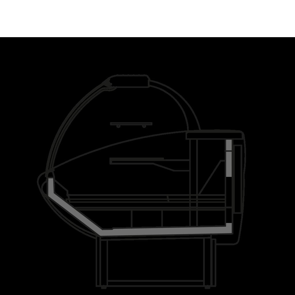 разрез  - NEWKLAUDIA VZA - Вентилируемое охлаждение для тортов