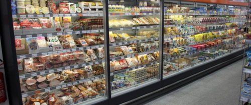 Wall positioned cases remote KALIFORNIA Q - Supermarket Hlohovec