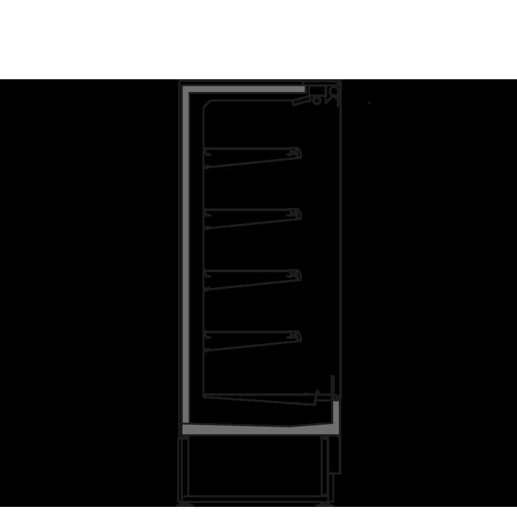 разрез  - FILIP 400 M1 - Oхлаждаемый вариант, полка 400