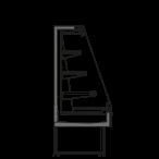 Bočný rez - SARA Q 1500 M1 - Chladiace prevedenie, výška 1500