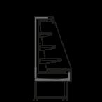 разрез  - SARA Q 1500 M2 R290 - Oхлаждаемая горка, высота 1500