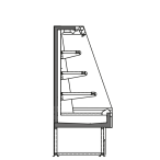 Bočný rez - SARA Q 1500 M2 - Chladiace prevedenie, výška 1500