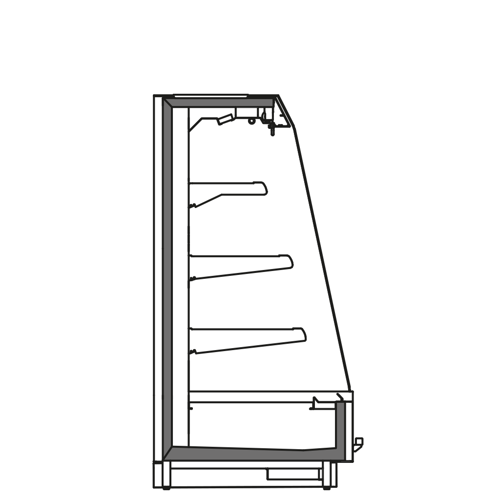 разрез  - KALIFORNIA Q1500 M2 - Oхлаждаемый вариант, полка 400
