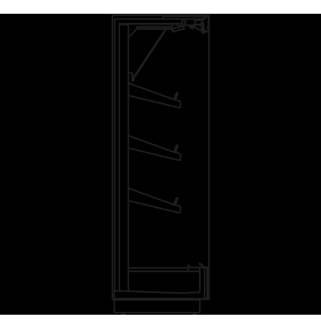Seitenschnitt - KALIFORNIA Q 350 H - Kühlversion, Regal 350