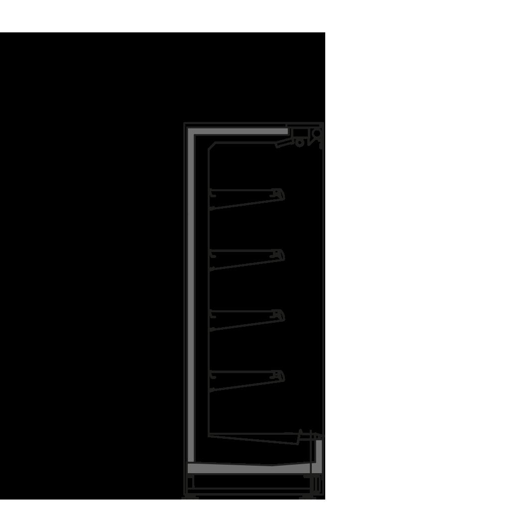 Seitenschnitt - FILIP RBLO M2 - Kühlversion, Regal 300