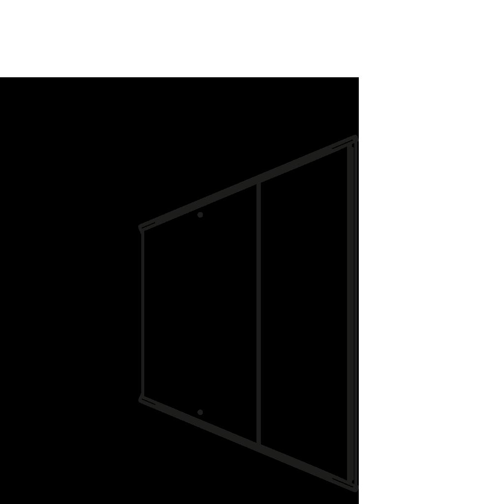 разрез  - LINDA 45°E - Угловые модули - вентилируемое охлаждание